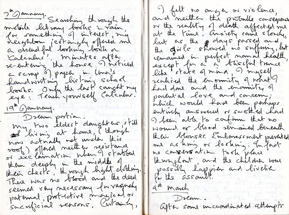 Handwritten excerpt referred to.